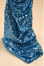 """60"""" X 3YDS SEQUIN NETTING TURQUOISE"""