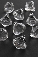 25MM ACRYLIC DROP CLEAR PKG/48 APPROXIMATELY