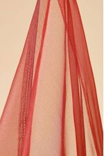 """44"""" X 3YDS SHEER FABRIC RED"""