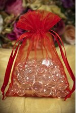 """5"""" X 7"""" SHEER POUCHES BAG RED PKG/12"""