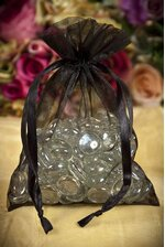 "5"" X 7"" SHEER POUCH BLACK PKG/12"