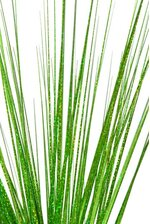 "28"" GLITTER PVC GRASS BUSH GREEN"