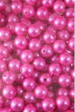 14MM ABS PEARL BEADS HOT PINK PKG(500g)