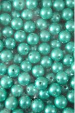 14MM ABS PEARL BEADS TEAL PKG(500g)
