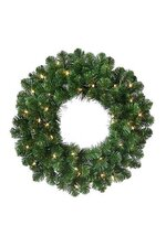 "23"" DELUXE OREGON FIR WREATH W/LIGHTS GREEN"