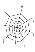 7 FT WINDOW GIANT SPIDER WEB BLACK