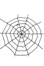 9 FT WINDOW GIANT SPIDER WEB BLACK