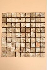 """11.5"""" SQUARE BIRCH STRIPS TABLE MAT NATURAL"""