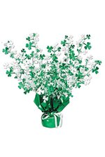 "15"" SHAMROCK GLEAMN BRST CENTER PIECE GREEN/WHITE"