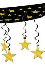 1FT X 12FT STARS CEILING DECOR GOLD/BLACK