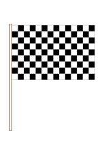 "4"" X 6"" PLASTIC RACING FLAG BLACK/WHITE PKG/12"