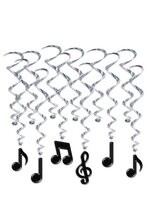 "17""-32"" MUSICAL NOTES WHIRLS BLACK PKG/12"