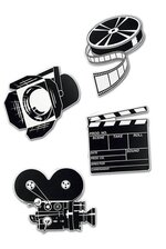 MOVIE SET CUTOUTS BLACK/WHITE