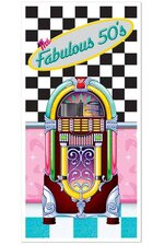 """30"""" X 5FT THE FABULOUS 50'S DOOR COVER MULTI-COLOR"""