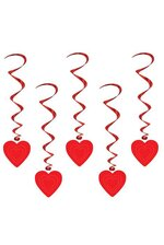 "35"" HEART WHIRLS RED PKG/5"