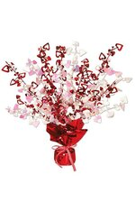 "15"" GLEAM 'N BURST CENTERPIECE RED/WHITE"