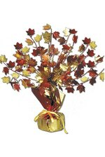 "15"" FALL LEAVES CENTERPIECE ORANGE/GOLD"