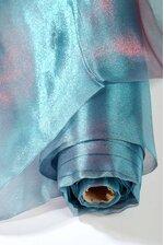 60'' X 15YDS SHIMMER ORGANZA FABRIC TEAL/BURGUNDY