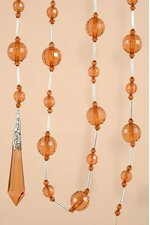 "72"" ACRYLIC ROUND FACTED BEAD GARLAND BROWN EA"