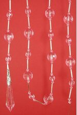 """72"""" ACRYLIC ROUND FACETED BEAD GARLAND PINK"""