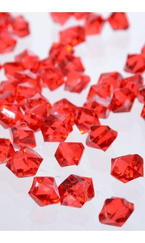 SMALL ACRYLIC CUBE RED PKG/1LB