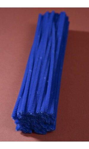"""12"""" CHENILLE STEM ROYAL BLUE PKG/100"""