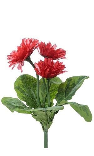 "10"" SILK GERBERA PLANT RED"