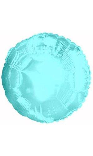 """18"""" ROUND FOIL BALLOON POWDER BLUE PKG/10"""