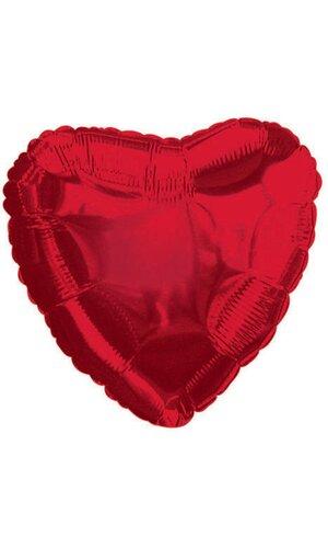 "9"" HEART BALLOON RED PKG/25"