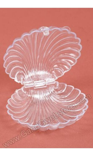"3.5"" PLASTIC SHELLS CLEAR PKG/12"