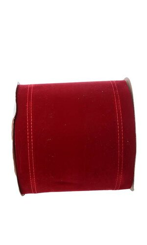 """6"""" X 20YDS WIRED VELVET RIBBON HOLIDAY RED"""