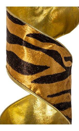 "4"" X 10YDS BENGAL TIGER RIBBON BLACK/GOLD"