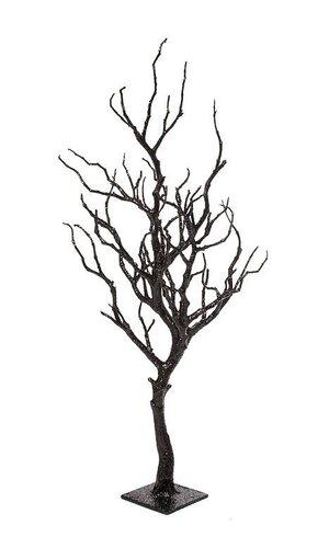 """28"""" PLASTIC TWIG TREE ON METALLIC STAND BLACK"""