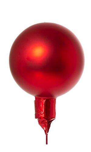 60MM MATT GLASS BALL RED PKG/12