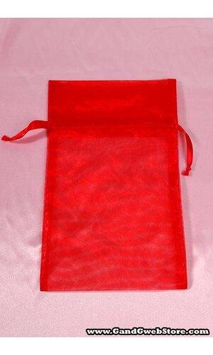6'' X 10'' ORGANZA POUCHES RED PKG/12