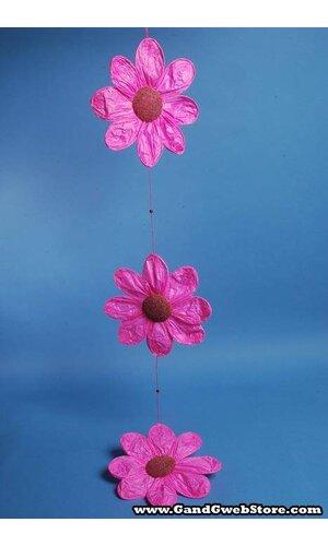 "11"" X 54"" PAPER FLOWER GARLAND HOT PINK"