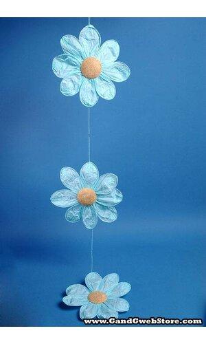 "11"" X 54"" PAPER FLOWER GARLAND BLUE"