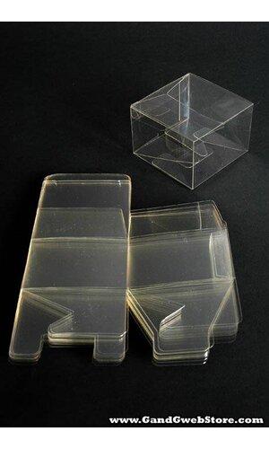 """3"""" X 3"""" X 2"""" PVC BOX CLEAR PKG/12"""
