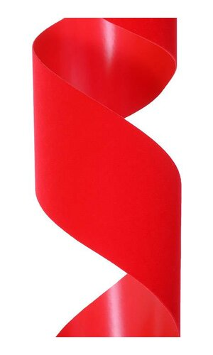 """2.5"""" X 25YDS VEL-PRUF RIBBON RED"""