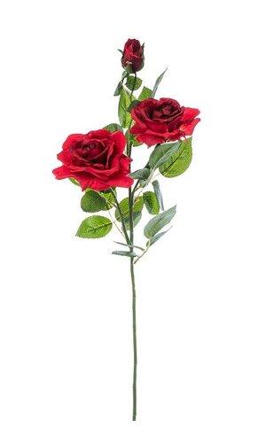 "29"" SILK OPEN ROSE SPRAY RED"