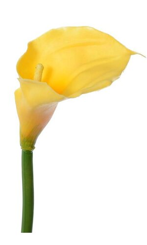 LARGE ARTIFICIAL CALLA LILY YELLOW EA.
