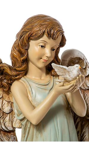 """12.5"""" ANGEL GIRL HOLDING A DOVE"""
