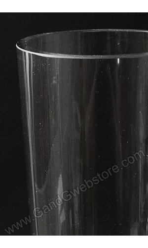 """4"""" X 20"""" FLUTED GLASS VASE CLEAR"""
