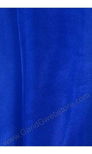"60"" X 15YDS SHIMMER ORGANZA FABRIC ROYAL BLUE"