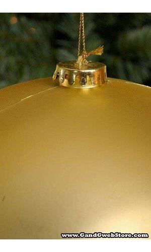 250MM MATT PLASTIC BALL GOLD