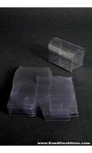 """2.75"""" X 1.75"""" X 2"""" PVC TRUNK BOX CLEAR PKG/12"""