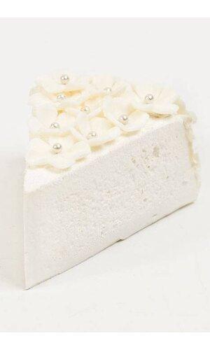 "4"" SLICE WEDDING CAKE W/FLOWERS CREAM"