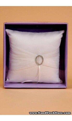 WEDDING PILLOW W/ ROMANCE RING IVORY