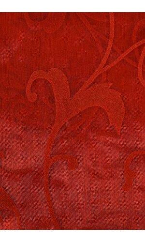 """54"""" X 3YDS SHEER/FLOCKED DAMASK SHEET RED"""