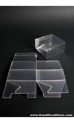 """4"""" X 4"""" X 2"""" PVC BOX CLEAR PKG/12"""